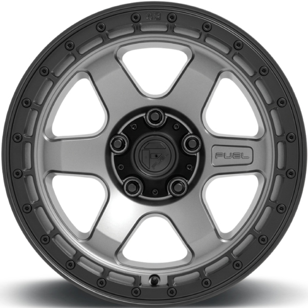 D752 BLOCK – MATTE ANTHRACITE W/ BLACK RING (5Lug)