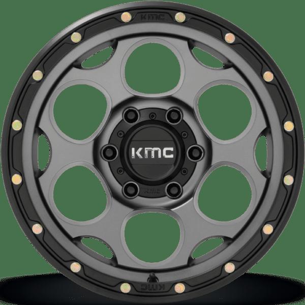 KM541 DIRTY HARRY – SATIN GRAY W/ BLACK LIP (6LUG)